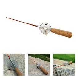 2pcs Mini Ice Fishing Rod and Reel Combo Winter Travel Baitc