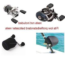 3 pack Baitcaster Fishing Reel Cover fits Low Profile & Stan