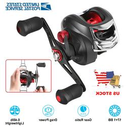 7.1:1 Gear Fishing Reel Baitcasting Reel 17+1BB Speed Saltwa