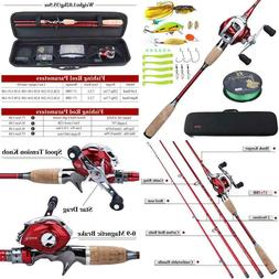 Sougayilang Baitcaster Combos Spinning Reel And Fishing Rod