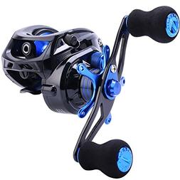 Sougayilang Baitcasting Fishing Reel 7.0:1 Gear - Low Profil