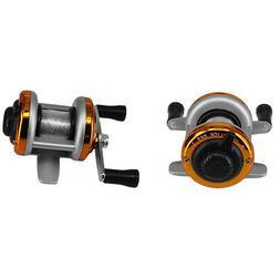 DEUKIO Mini Portable Ice Fishing Reel 1BB Dual Rocker Winter