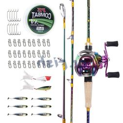 Dr.Fish Baitcasting Fishing Rod and Reel Combo Set 11 BB Rig