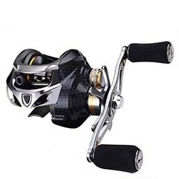 Hetto Fishing Reel Carbon Fiber 18+2 BB Double Brake Baitcas