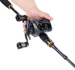 Fishing Rod And Baitcasting Reel Combo Carbon Spinning Lure