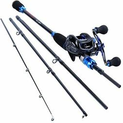 Fishing Rod and Reels Combo, 24-Ton Carbon Fiber Fish Pole w