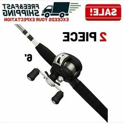 Fishing Rod Reel Combo Low Profile Baitcast Gear Equipment A