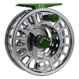 Isafish Fly Reel Large Arbor CNC Aluminum Alloy Body with St