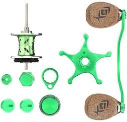 13 Fishing Green Machine Reel Kit, Lime/Silver