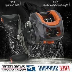 High Speed 7.2:1 Gear Ratio Magnetic Brake System Baitcast F