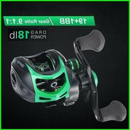 High Speed 9.1:1 Gear Ratio Baitcast Fishing Reel 19+1 Ball
