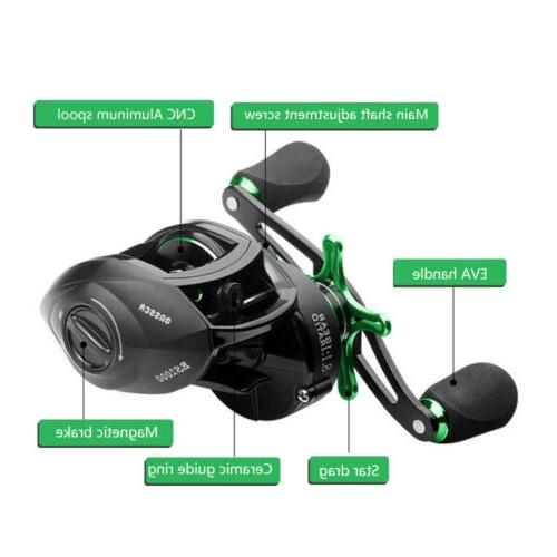8.1:1 Fishing Reel Magnetic Braking System Speed Right Handed
