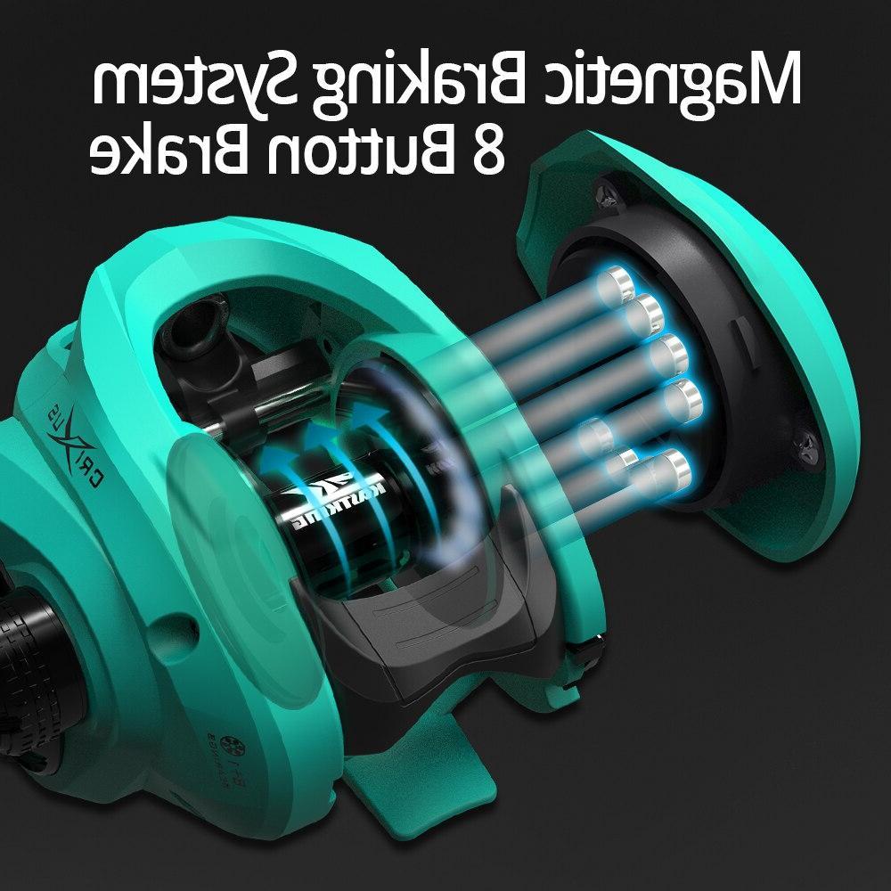 KastKing 2019 Super Baitcasting Fishing <font><b>Reel</b></font> Dual Brake System Freshwater 8KG