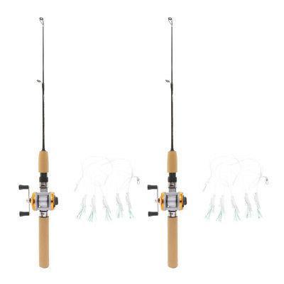 2pcs Micro Telescopic Fishing Reels Travel 55cm