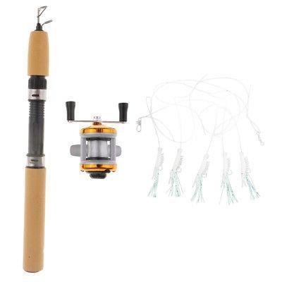 2pcs Micro Telescopic Ice Fishing Rod Reels