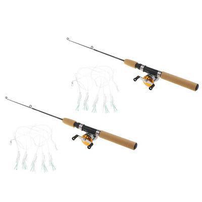 2pcs Micro Fishing Rod Baitcasting Reels