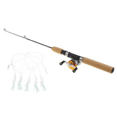 2pcs Micro Ice Fishing with Reels Rod 55cm