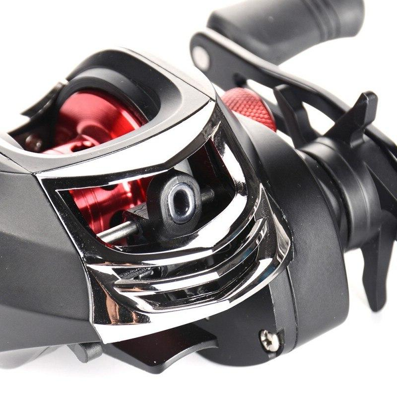 6.3:1 <font><b>Baitcast</b></font> <font><b>Reel</b></font> Metal Dual Handles Adjustable Right Handed Bait Casting