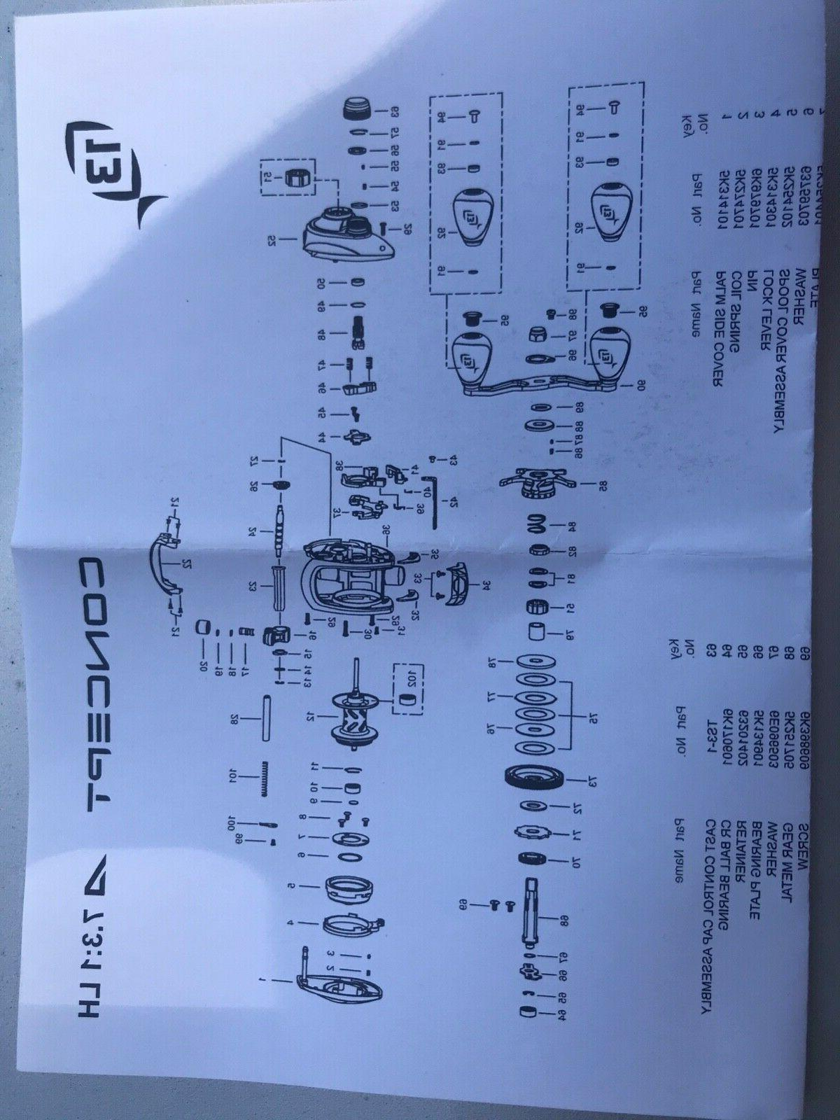 13 Concept A Baitcast Reel Left -