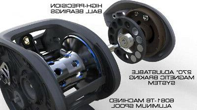 Ardent Tournament Reel With 6.5:1 Ratio, Right Black