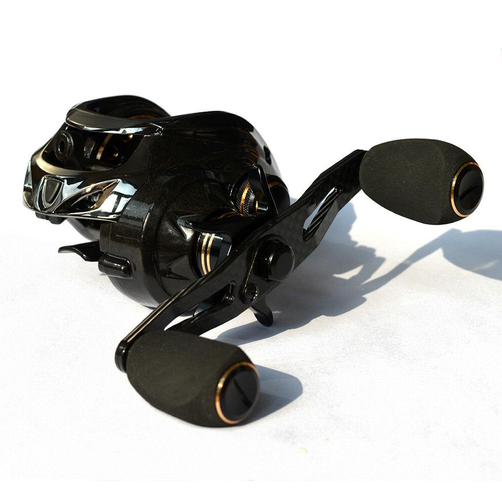 Fishdrops casting Carbon Totally Hand reel