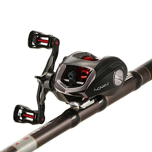 Lixada Spinning Fishing 11+1BB Feeder 5.2:1 Gear Ratio Double Brake Hand Interchangeable