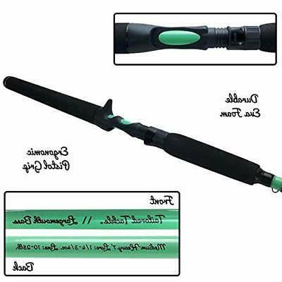 Tailored Bass Fishing Rod and Reel Handed Ft