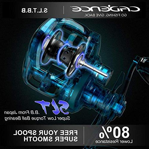 Cadence Reels Ultra Fishing with Corrosion Bearings lb Carbon Fiber Drag 5.6:1 6.6:1 Ratio Casting Reels