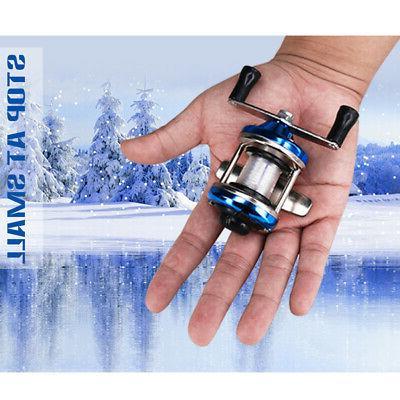 DEUKIO Winter Ice Fishing Reel Baitcasting Double Rocker Bai
