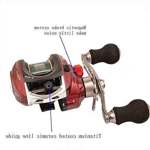 BLISSWILL Reel with Fishing Lines Left/Right Handed 14+1BB Carbon Magnetic Brake Approved