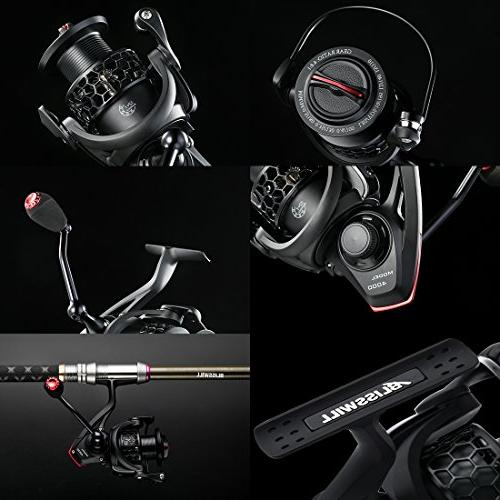 BLISSWILL Reel Smooth Aluminum-Carbon Fiber Drag-12+1BB Powerful Spinning Smooth Free Spare Graphite