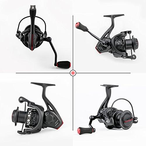 BLISSWILL Reel Spin Reel Smooth Spinning Reel-Aviation Aluminum-Carbon Spinning Lightweight Ultra Smooth Graphite Spool