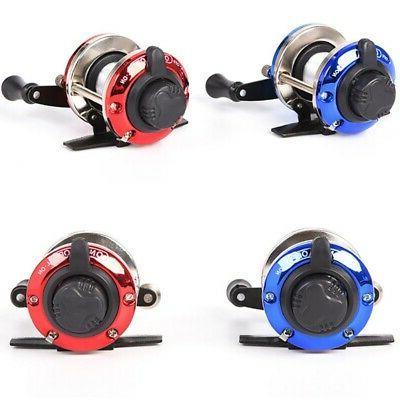 fishing wheel roller red blue winter baitcasting