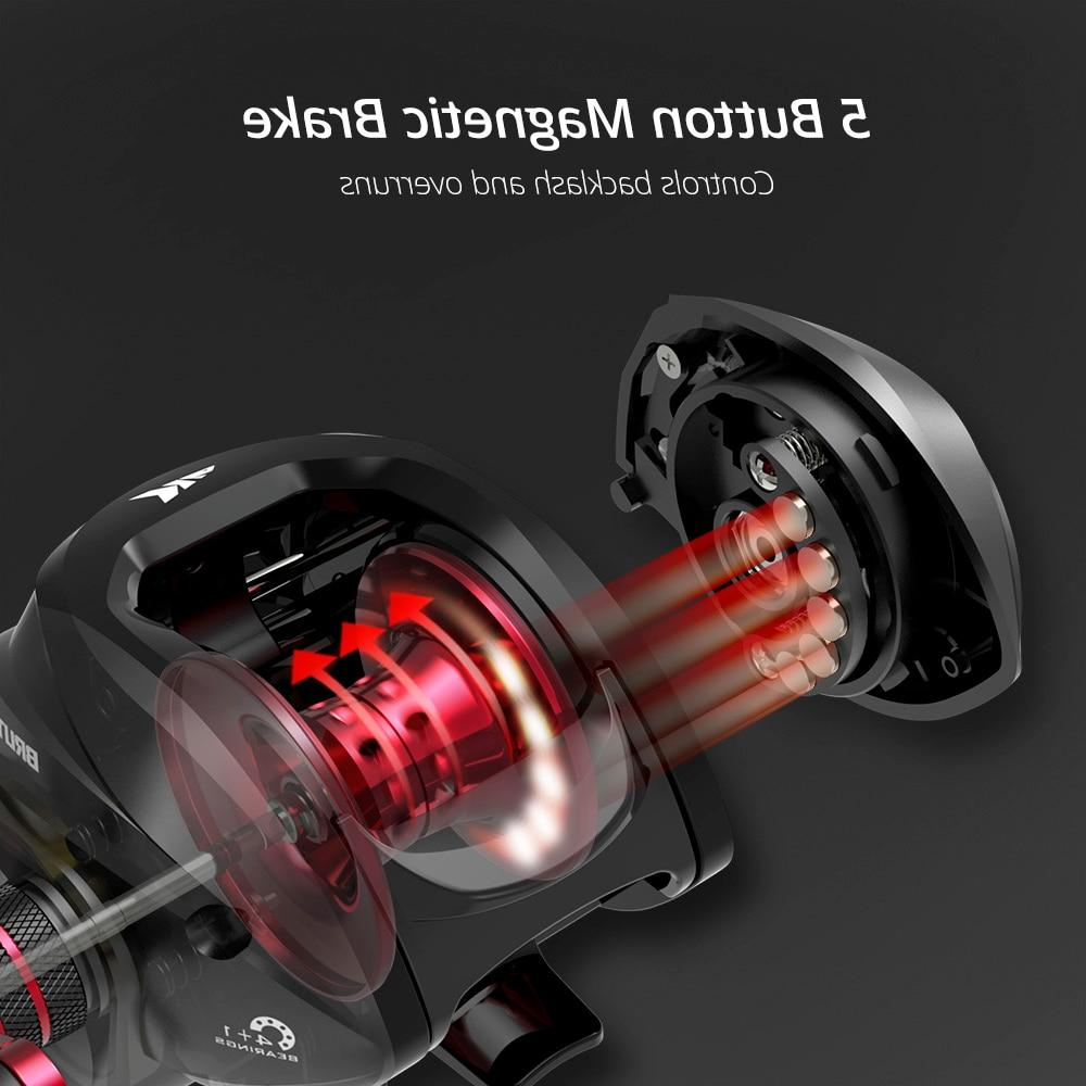 <font><b>KastKing</b></font> <font><b>Baitcasting</b></font> <font><b>Reel</b></font> Gear 4+1 Ball Drag Frame Aluminum Handle