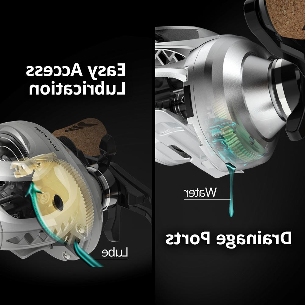 <font><b>KastKing</b></font> Bearings <font><b>Baitcasting</b></font> 4 Gear Ratio Drag <font><b>Reel</b></font> River Fishing