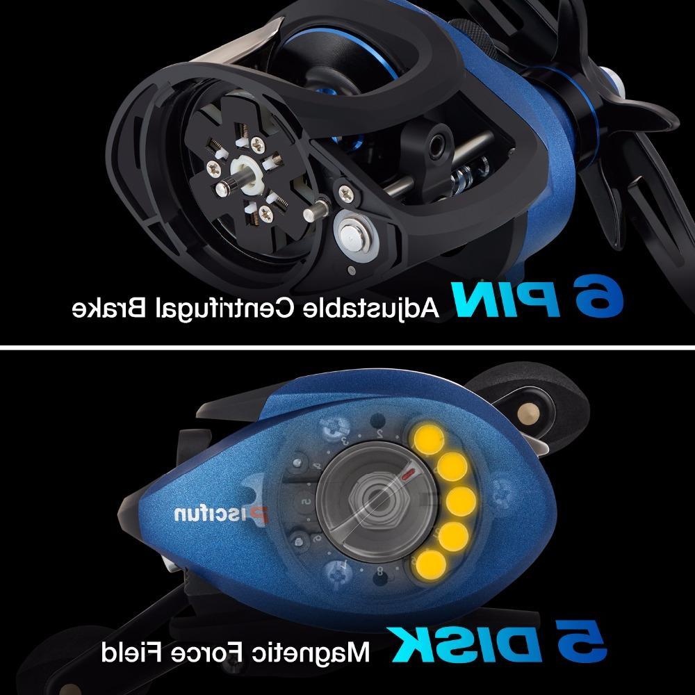 <font><b>Piscifun</b></font> 8.4KG brake+centrifugal 6 Light <font><b>Baitcasting</b></font> <font><b>reel</b></font>