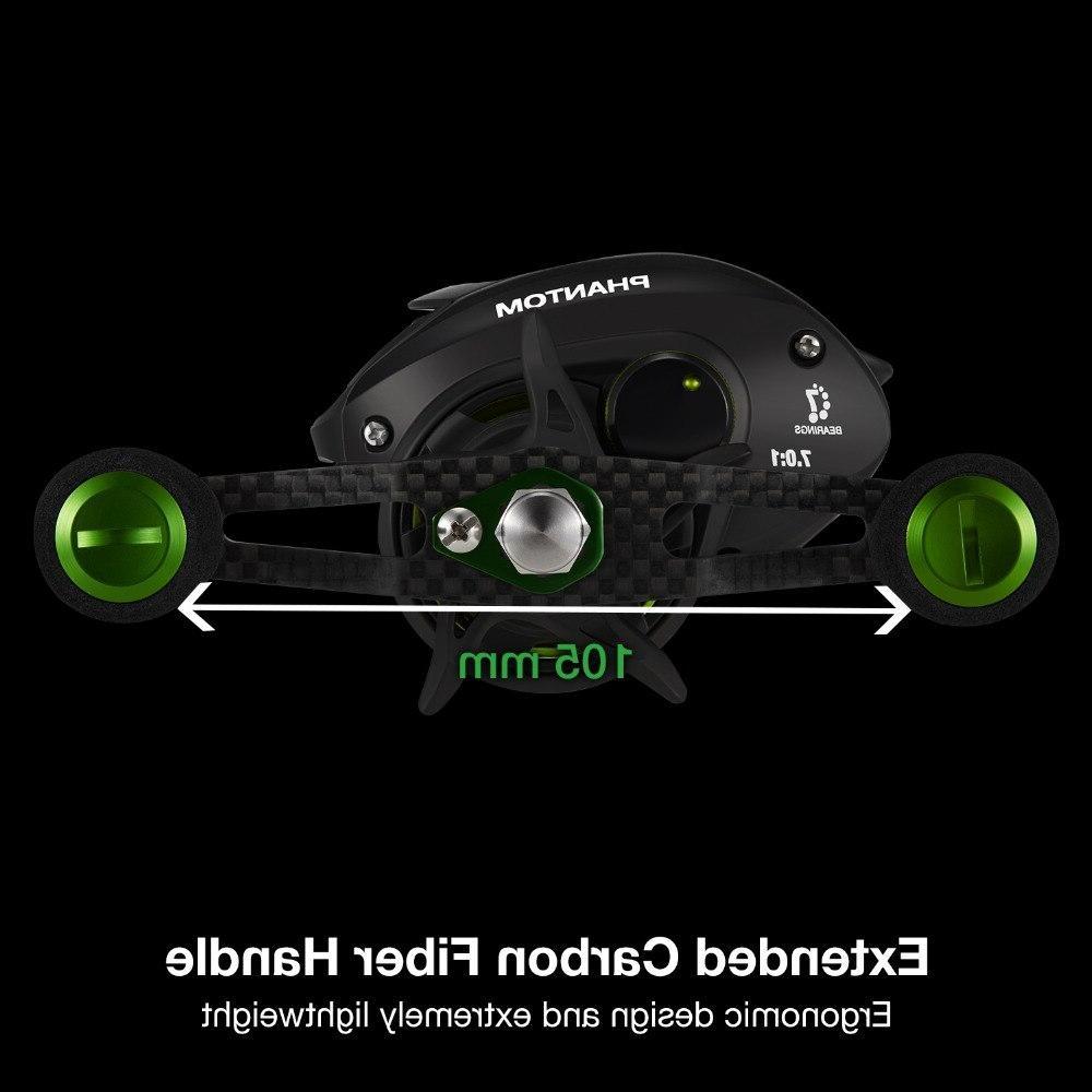 <font><b>Piscifun</b></font> Phantom Fishing Tackle 7.0:1 Ratio Drag 7 Bearings Ultralight Carbon