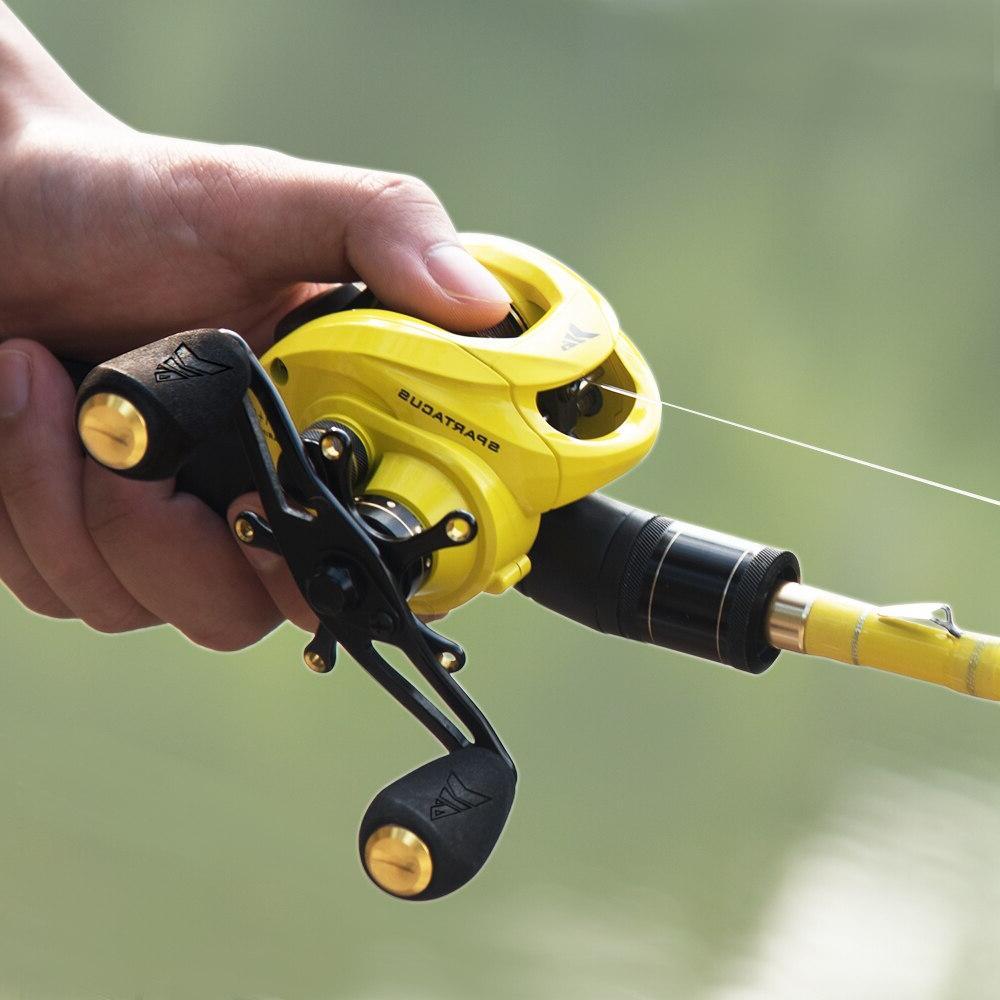 <font><b>KastKing</b></font> Fishing <font><b>Reel</b></font> Drag Power 12 Bearings 6.3:1 High Speed for Bass Fishing
