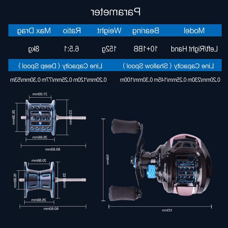 Mavllos GB 152g Ultra Light BFS <font><b>Baitcasting</b></font> Fishing <font><b>Reel</b></font> Double Metal Fishing Bait