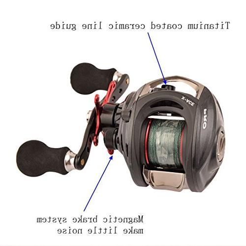 Reel Grey Fishing Lines Left/Right Handed 14+1BB 6.4:1 Approved