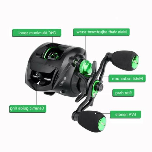 Lightweight Baitcasting Reels Low Profile 6.3:1 Smooth