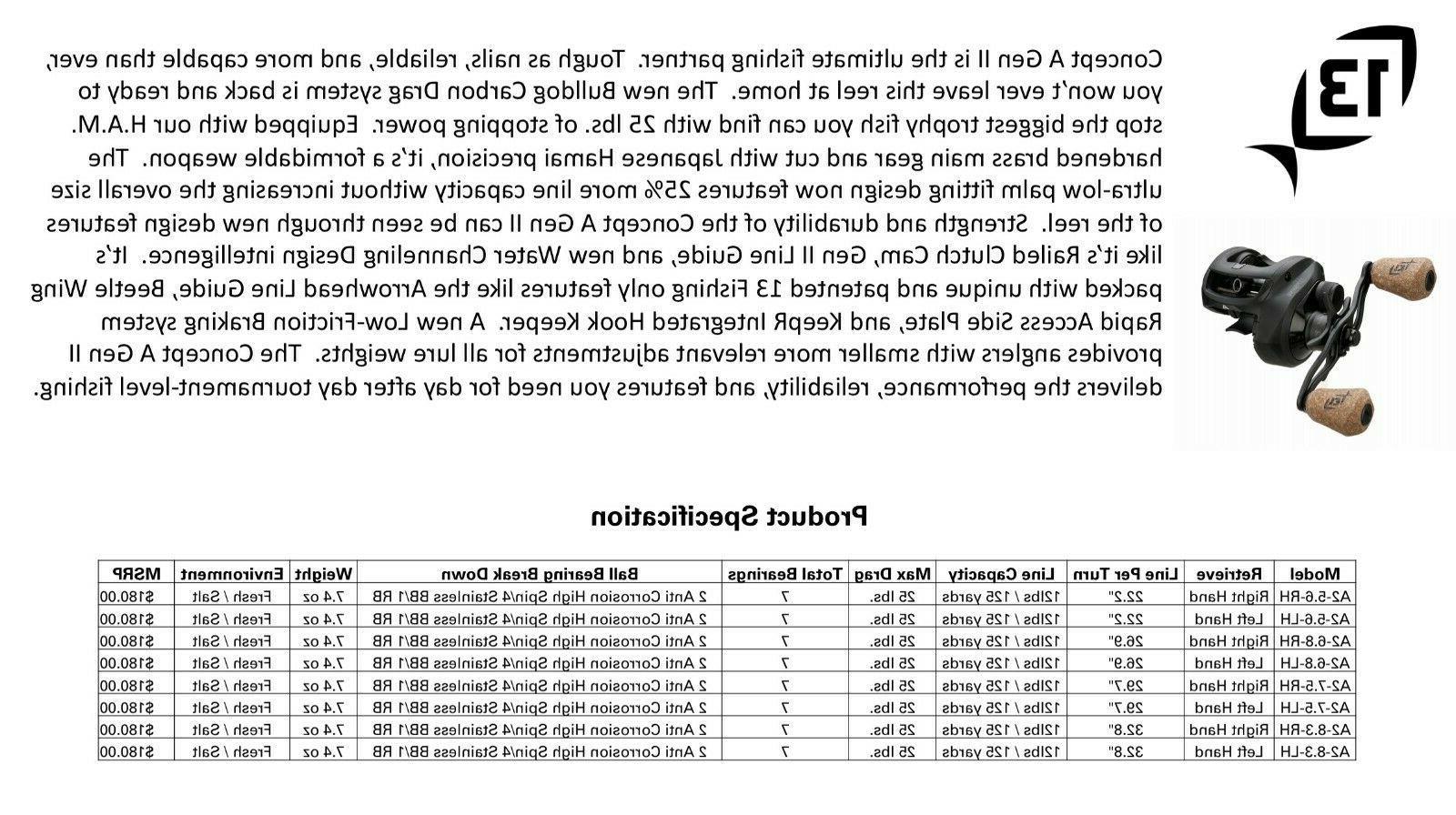 NEW Concept A2 Baitcast Choose RH / &