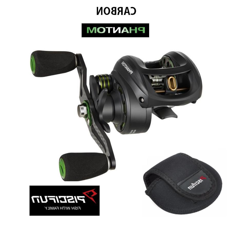 phantom carbon fishing reel ultralight dual brake