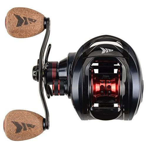 KastKing Spartacus Fishing Smooth 17.5 LB Carbon Drag, Gear Ratio,11 + 1 Bearings, Rubber Cork Knobs