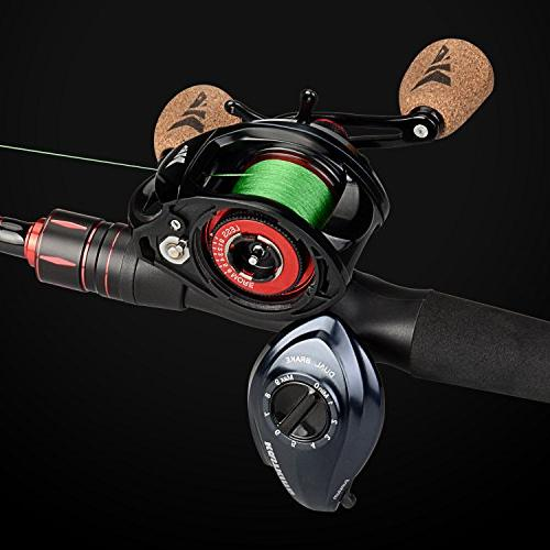 KastKing Plus Fishing Reel Ultra 17.5 Carbon Fiber Drag, 6.3:1 Gear Ratio,11 + 1 Bearings, Rubber Knobs