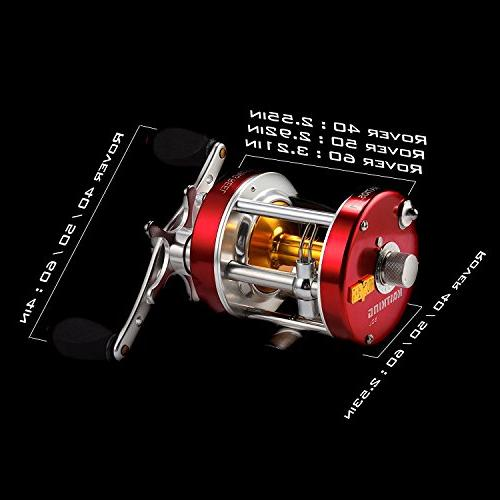 KastKing Rover Round Baitcasting Reel Highest Rated Reel - Reinforced Supreme Star 2016 RXA Conventional Saltwater