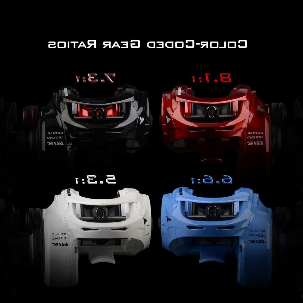 KastKing Royale <font><b>Elite</b></font> <font><b>Baitcasting</b></font> Left Hand 12 Ball Bearings 205g 8KG Max Drag