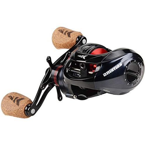 KastKing Fishing Ultra Smooth 17.5 LB Carbon Drag, 6.3:1 Bearings, Rubber Cork Handle Knobs