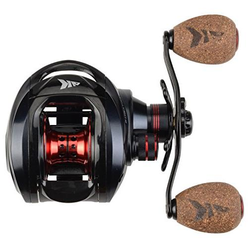 KastKing Spartacus Plus Fishing Ultra 17.5 Carbon Fiber Drag, 6.3:1 Gear Ratio,11 + Ball Bearings, Rubber Cork Knobs
