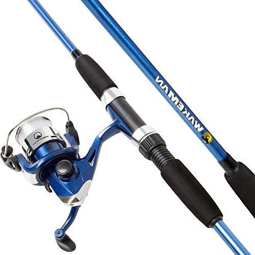spinning fishing pole reel combo